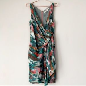 RACHEL Rachel Roy Watercolor Draped Dress